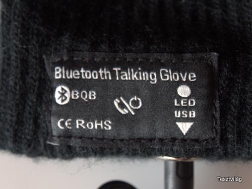 Bluetooth kesztyű