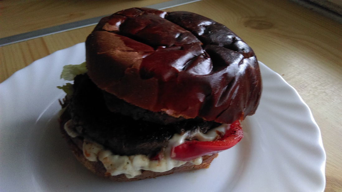BBQ burger hamburger