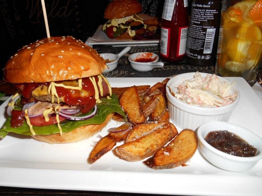 Classic burger hamburger