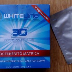 Fogfehérítés otthon – Whiteline fogfehérítő matrica teszt